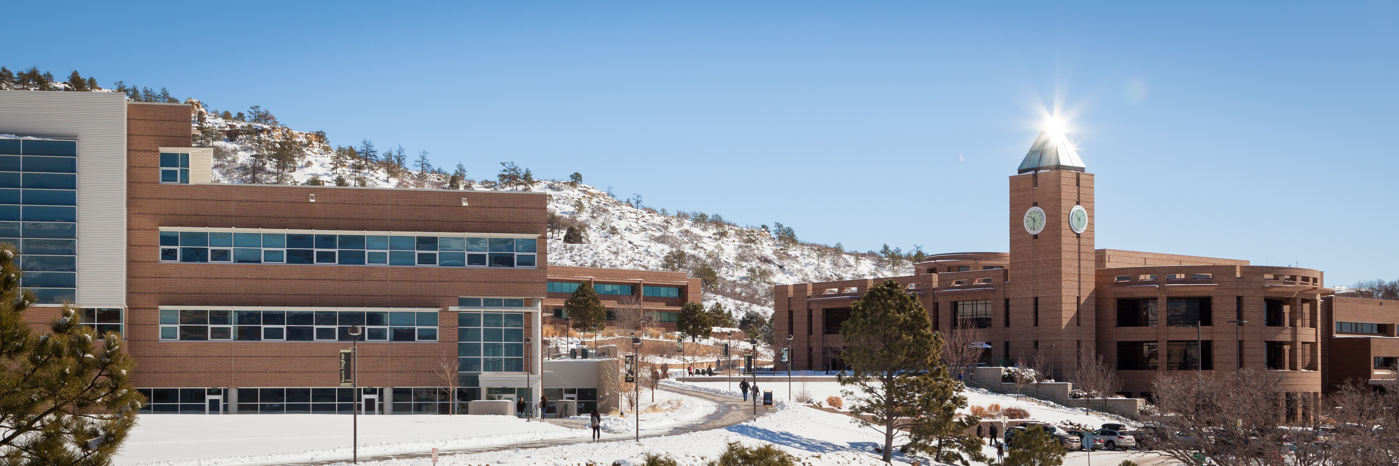 UCCS Campus in winter
