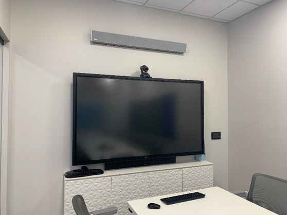 A video conference room